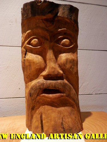 #SSA-0407 Hand Carved Bark Tree Spirit