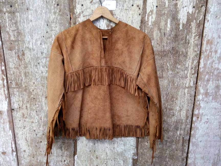 A192 Ladies Buckskin Tassel Jacket - $95