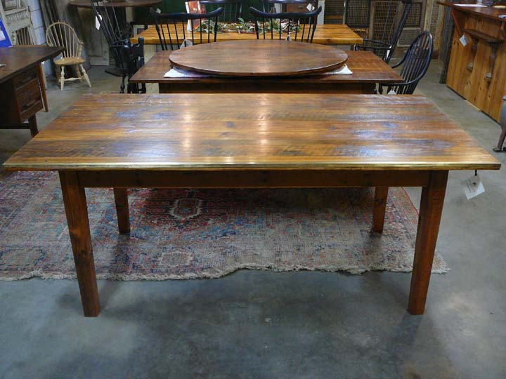 DT-79 Farm Table with Wallpaper Ruler Edge ~ $2950