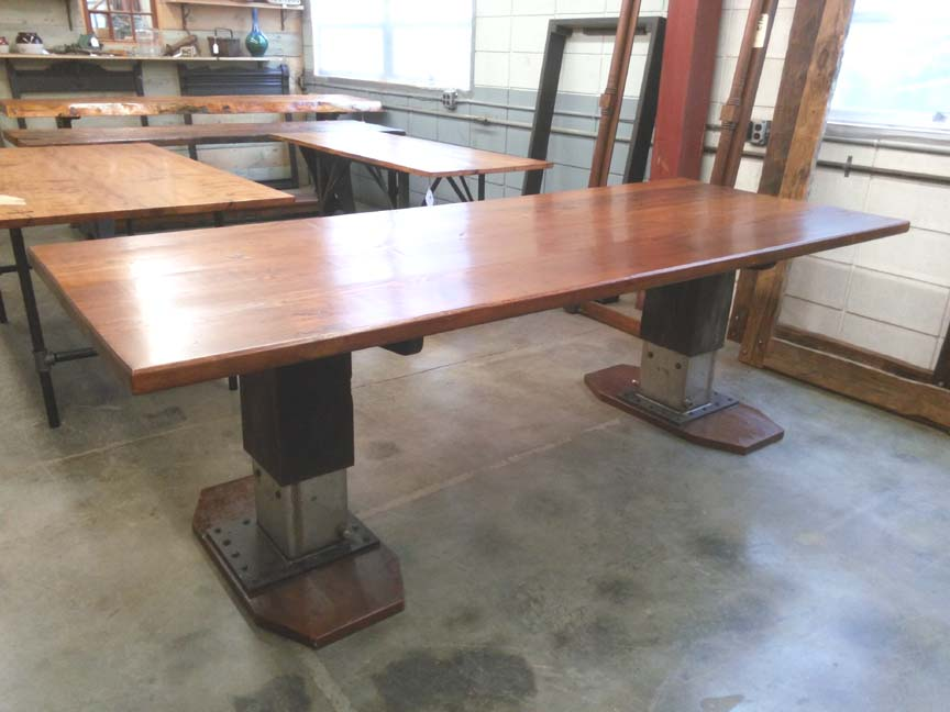 DT 98 Industrial Double Pedestal Table   $2995