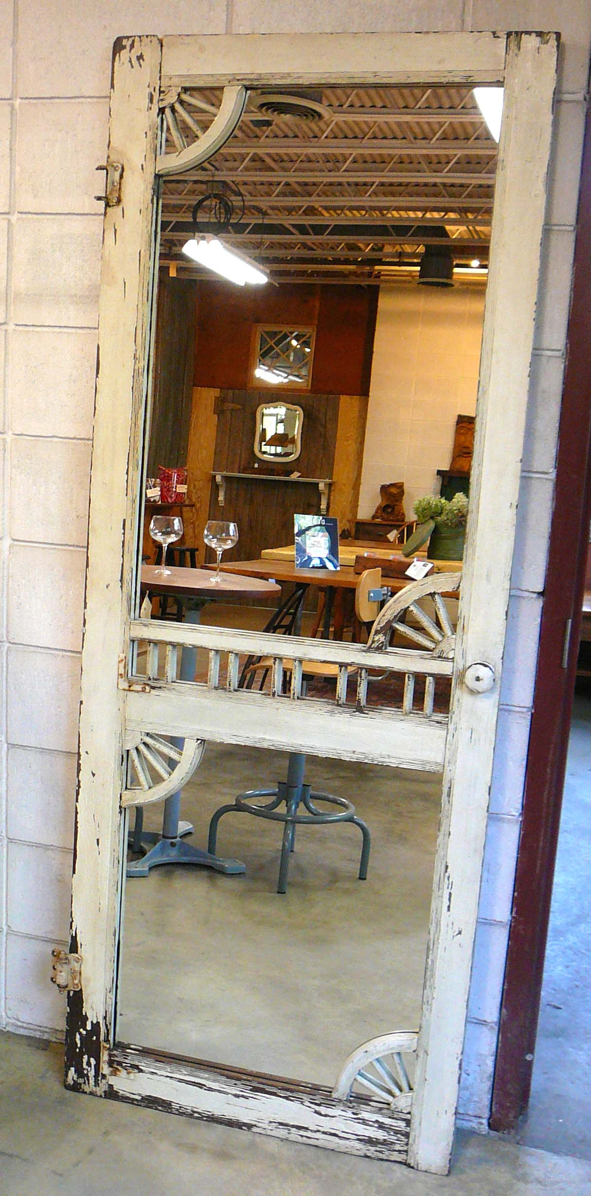 MR-20 Antique Victorian Era Screen Door Mirror