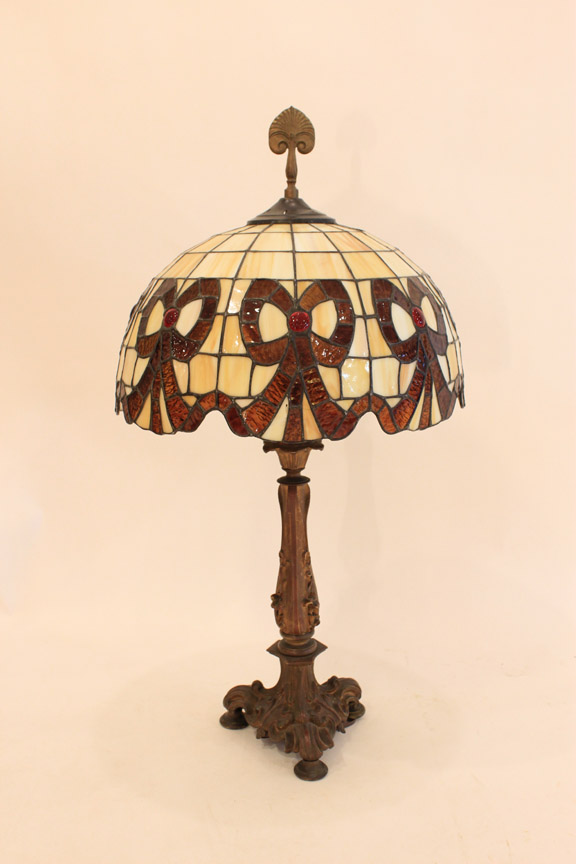 LT-31 Stained Glass Lamp Circa 1940's ~ $109