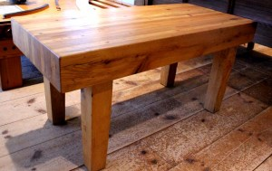 #CT-10 Butcher Block Style Coffee Table or Bench