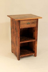 #CB-15 One Drawer/One Shelf Pine Cabinet