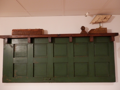 #SP-33 Antique Green Panel Door Headboard ~ $695