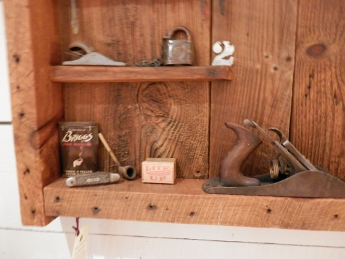 #ACC-0227 Antique Tools in a Shadowbox